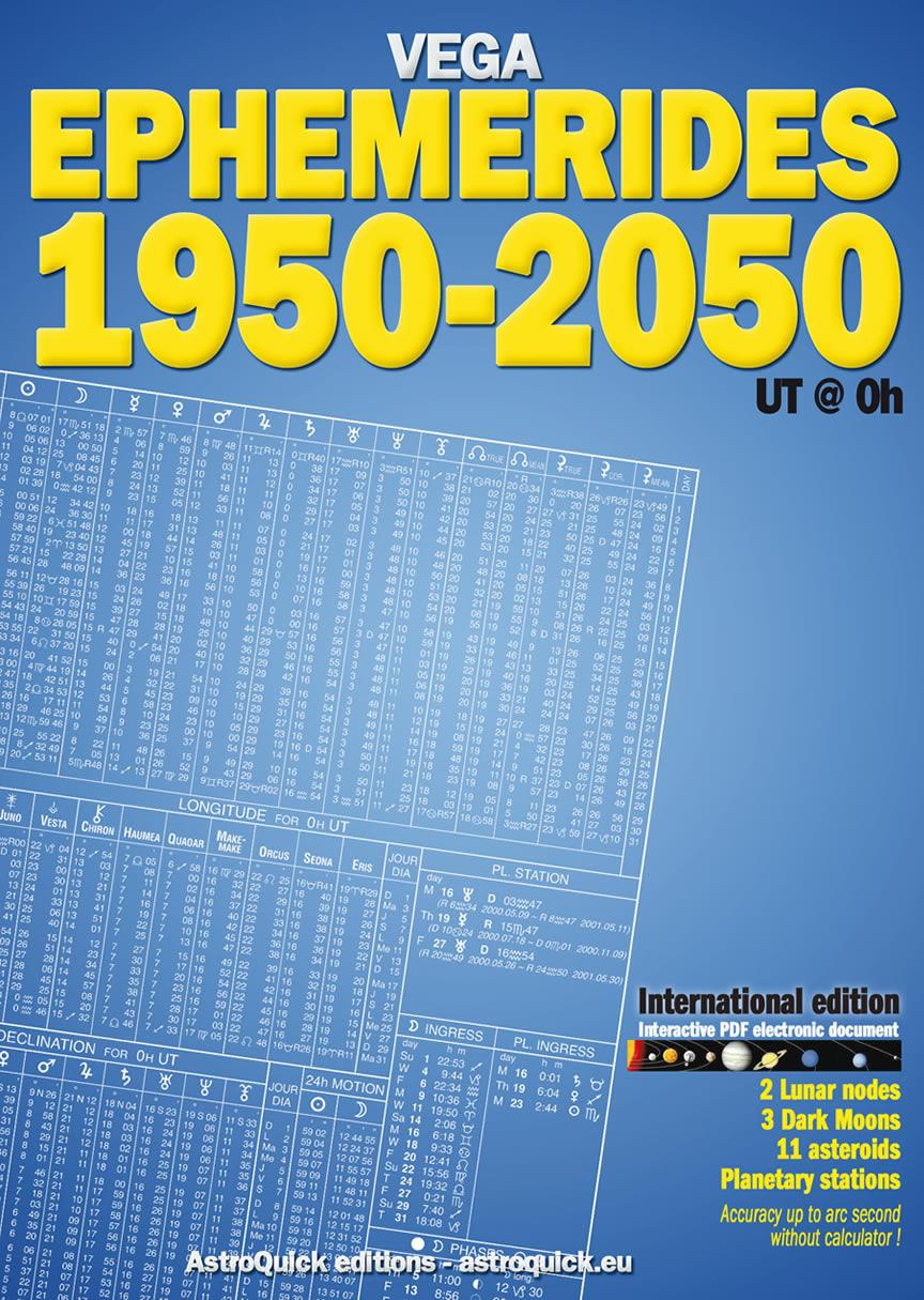 Ephemerides 1950-2050 at 0 hour Astrological Ephemeris